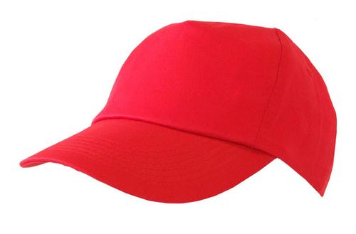 Poly-Cotton Workwear Baseball Cap Red  Bcre