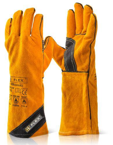 Click Leather Gauntlets Premium Gold Welders Gaunt let Pk 10 Bfpgwn