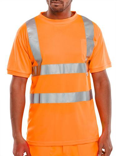 B-Seen Hv Polo/Sweatshirt Crew Neck T-Shirt Orange  M  Bscntsenorm