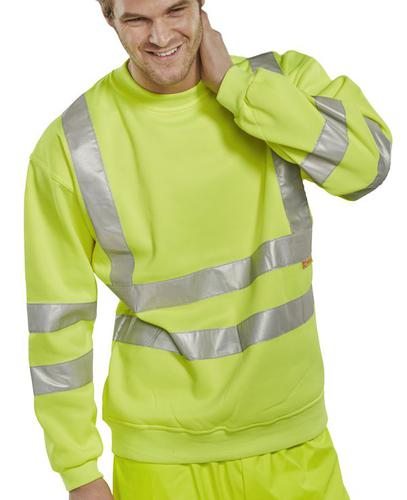 B-Seen Hv Polo/Sweatshirt Sweatshirt Sat Yel Hi Vi z Xl  Bssensyxl