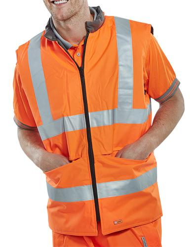 B-Seen Hv Outer Wear Bodywarmer Eng Orange S  Bwen gors