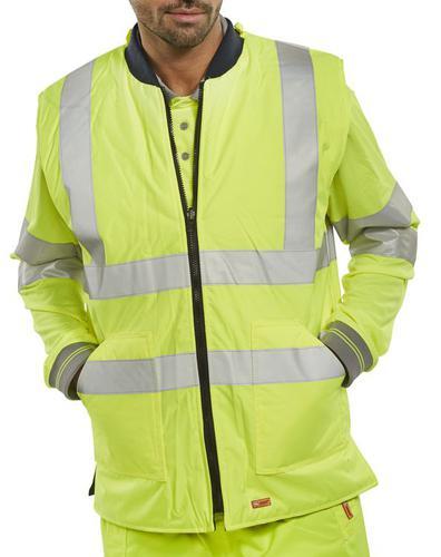 B-Seen Hv Outer Wear Bodywarmer Eng Sat/Yellow Xl  Bwengsyxl