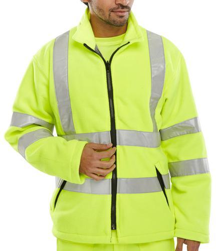 B-Seen Hv Outer Wear Carnoustie Fleece Jkt S/Y Lge   Carfsyl