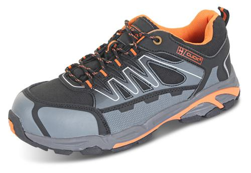 Click Safety Footwear Trainer S3 Composite Blk/Or/ Gy 07 (41) Cf2907
