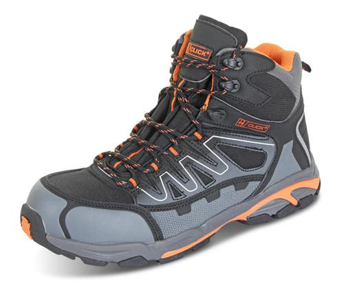 Click Safety Footwear Hiker S3 Composite Blk/Or/Gy  10 (44) Cf3510