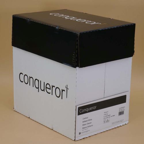 Conqueror Paper Mixed Sources Texture Contour Bril liant White FSC4 A4 100Gm2 Watermarked Pack 500