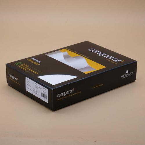 Conqueror Paper Texture Laid High White FSC4 A4 21 0x297mm 90Gm2 Watermarked Pack 500