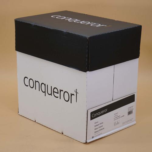 Conqueror Paper Smooth Wove Finish A4 100gsm Brilliant White [Pack 500]