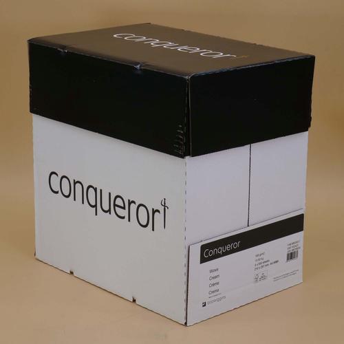 Conqueror Paper FSC Mix Credit Cream Wove A4 100Gm 2 Watermarked Pack 500