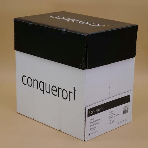 Conqueror Paper Smooth/Satin Wove Diamond White FS C4 A4 100Gm2 Watermarked Pack 500