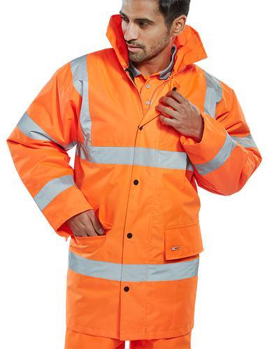 B-Seen Hv Outer Wear Constructor Traffic Jkt Or Lg e  Ctjengorl