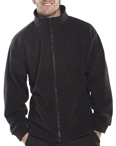 Poly-Cotton Workwear Fleece Jacket Black S  Fljbls