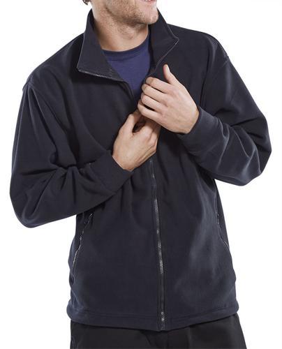 Poly-Cotton Workwear Fleece Jkt Navy 5Xl  Fljn5Xl
