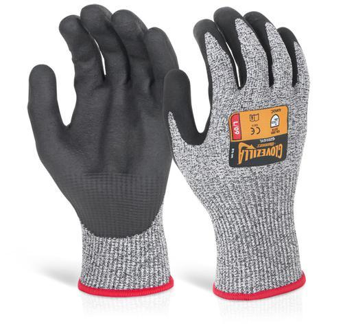Glovezilla Nitrile Palm Coated Glove Grey Lge Gz01 Gyl