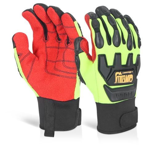 Glovezilla Mechanical Impact Glove L Green Med Gz8 2Lgm