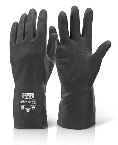 Click 2000 Rubber Gloves House Hold Hw Black L 9/9 .5  Hhbhwl