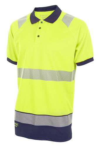Hivis Two Tone Polo Shirt S/S Sat Yell/Nvy Xl Hvtt 010Synxl