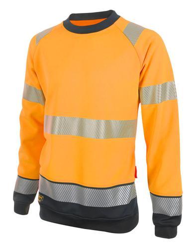 Hivis Two Tone Sweatshirt Or/Blk Sml Hvtt020Orbls