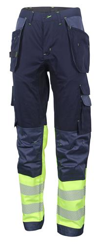 Hivis Two Tone Trousers Sat Yell/Nvy 38 Hvtt080Syn 38