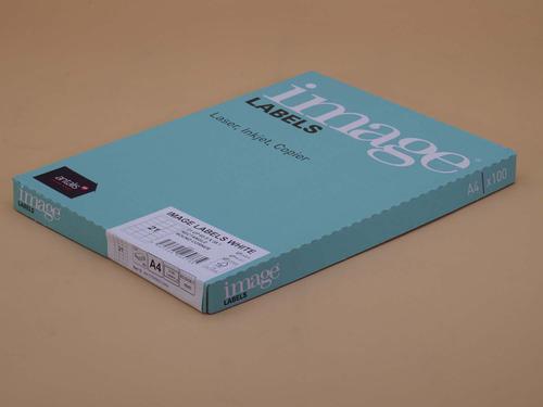 Image A4 MultiPrint Permanent Labels FSC Mix Credi t RC63.5 x 38.1mm 21 Lab/Sh 100Sh/Pk