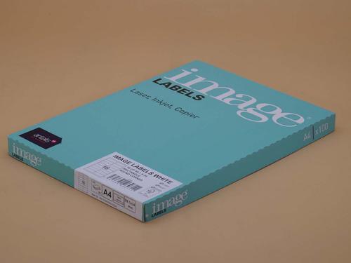 Image A4 MultiPrint Permanent Labels FSC Mix Credi t RC99.1 x 34mm 16 Lab/Sh 100Sh/Pk