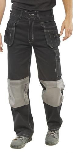 Poly-Cotton Workwear - Kington Black M/Pocket Trs 36