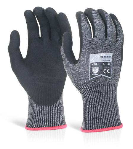 Click Kutstop Gloves - Micro Foam Nitrile Cut D Lg e  Pk 10
