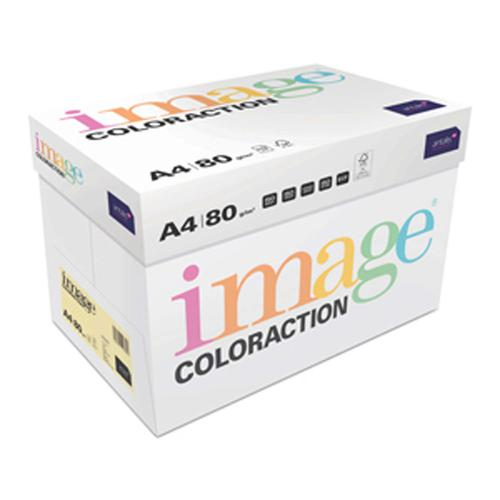 Image Coloraction FSC Mix Credit Desert FSC Mix Cr edit A4 210x297 mm 80Gm2 Pale Yellow Pack of 500
