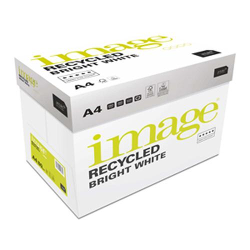 Image Recycled 100% Recycled A4 210x297 mm 80Gm2 B right White Pack of 500