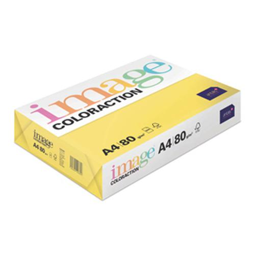 Image Coloraction Copier A4 80gsm Canary Mid Yellow 89609 [Pack 500]