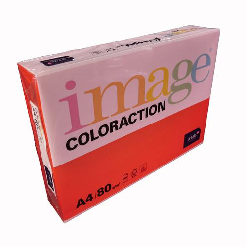 Image Coloraction London FSC Mix Credit A4210x297 mm 80Gm2 Dark Red Pack of 500