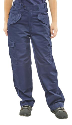 Poly-Cotton Workwear - Ladies P/C Trousers Navy 30
