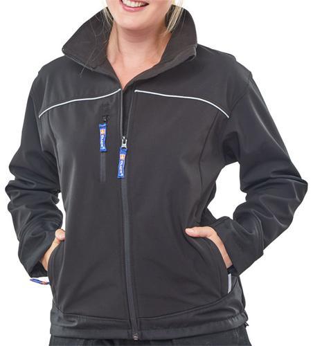 Poly-Cotton Workwear - Ladies Black Soft Shell Jkt  Xl (Size 16)