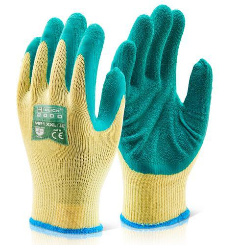 Click 2000 Glove Range - M/P Green Latex P/C Glove  L  Pk10