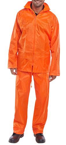 B-Dri Weather-Proof - Nylon B-Dri Suit Orange 4Xl