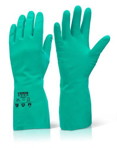 Click 2000 Rubber Gloves - Nitrile Green Xxl (11) Pk10