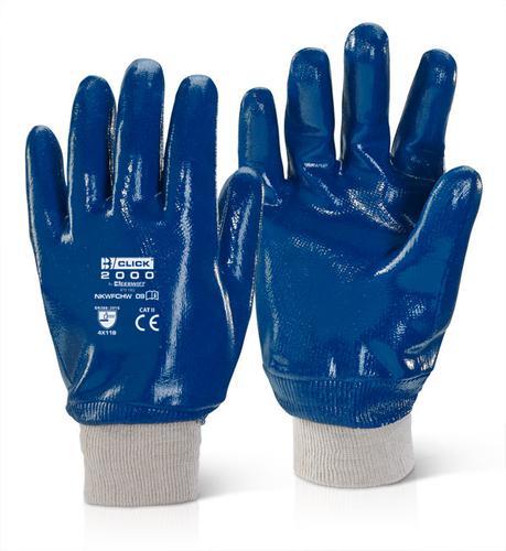 Click 2000 Glove Range - Nitrile K/W F/C H/W Blue Sz 10 Pk10