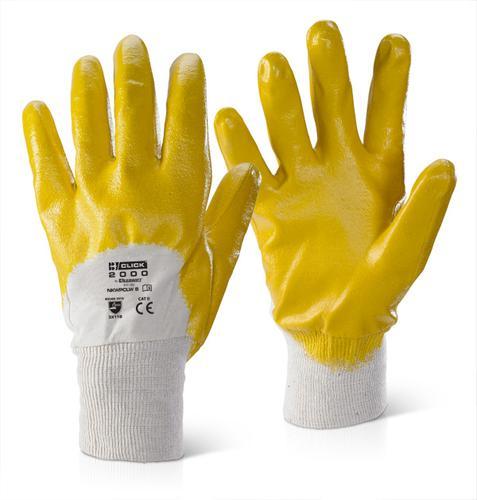 Click 2000 Glove Range - Nitrile K/W P/C L/W Yello w 08 Pk10