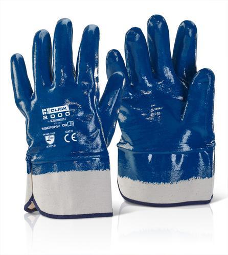 Click 2000 Glove Range - Nitrile S/Cuff F/C H/W Bl ue 10 Pk 10