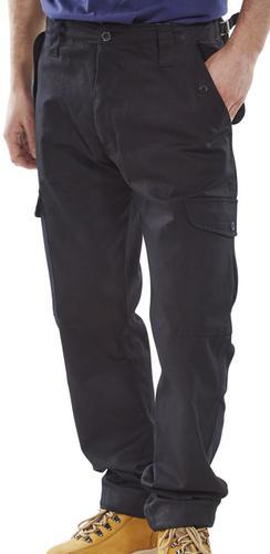 Poly-Cotton Workwear - Click Pc Combat Trs Black 4 0