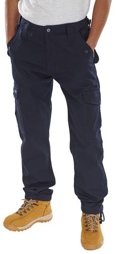 Poly-Cotton Workwear - Click Pc Combat Trs Navy 40