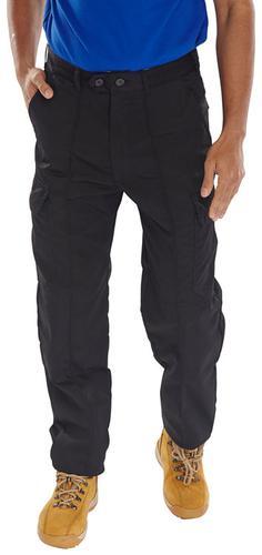 Poly-Cotton Workwear - Super Click Pc Trs Black 36