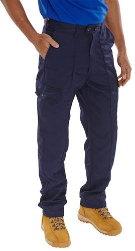 Poly-Cotton Workwear - Super Click Pc Trs Navy 40