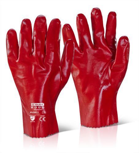 Click 2000 Pvc Gloves - Pvc Gauntlet Red 11   Pk1 00