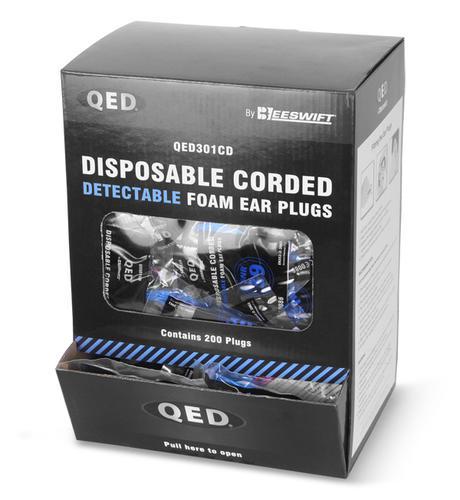 Qed Range - Qed Corded Detectable Ear Plug Pk200