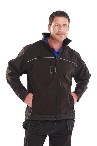 Poly-Cotton Workwear - Soft Shell Jacket Black 4Xl