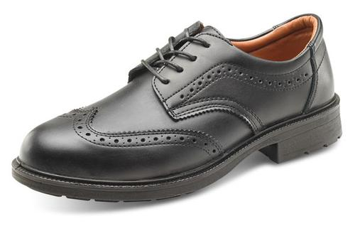 Click Safety Footwear - Brogue Shoe Black S1 Sz 5/ 38
