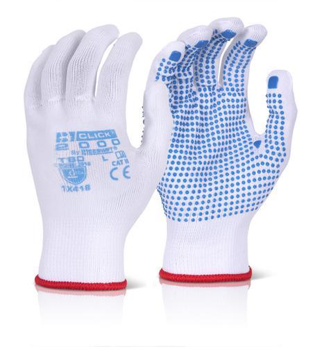 Click 2000 Glove Range - Tronix Blue Dot Large Pk1 0