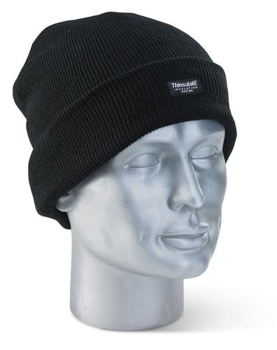 Click Knitwear - Thinsulate Beenie Hat Black