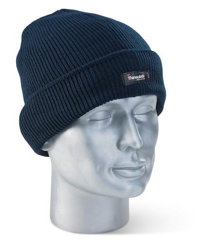 Click Knitwear - Thinsulate Beenie Hat Navy
